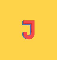 Pop art style logo j letter halftone colors vector