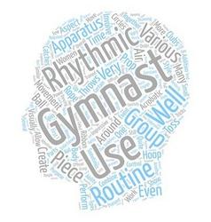 Rhythmic Gymnastics for Women 1 text background vector image vector image