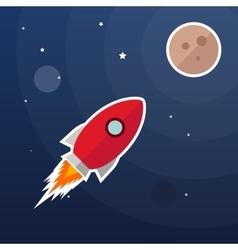 rocket galaxy background vector image vector image