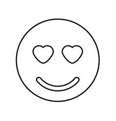 Smile black color icon vector