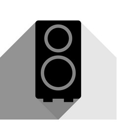 speaker sign black icon with vector image vector image