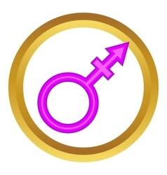 Transgender sign icon vector