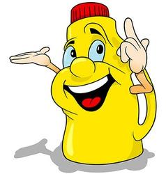Yellow happy bottle vector