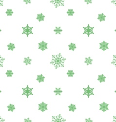 Snowflake pastel green white background vector