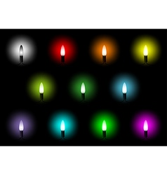 Christmas Colorful Lights Collection vector image