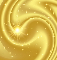 Gold abstract background with stars and particles vector image