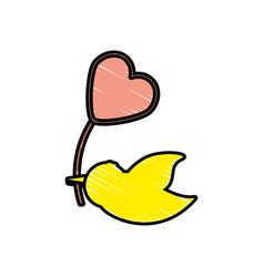 dove balloon heart symbol image vector image
