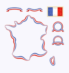 Colors of france vector