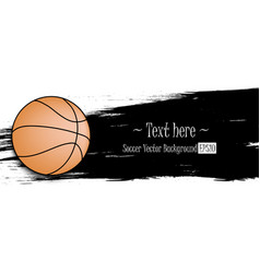 hand drawn grunge banners with basketball vector image
