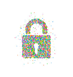 Lock icon abstract vector