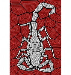 scorpion design vector image