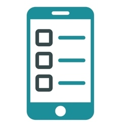 Mobile test icon from business bicolor set vector