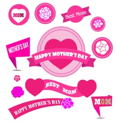 Mother day decoration elements vector