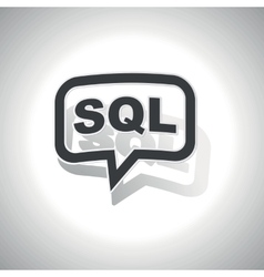 Curved sql message icon vector