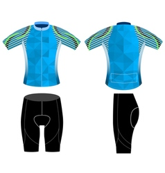 Graphic poly cycling vest vector