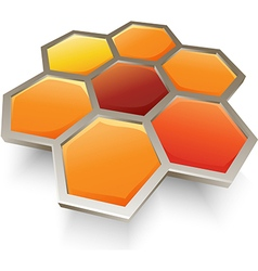 Honey bee honeycombs symbol icon vector