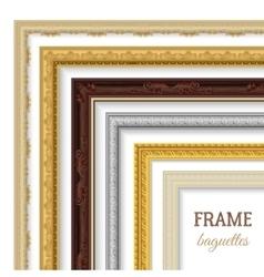Frame baguettes set vector