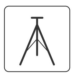 Tripod icon modern equipment vector image