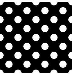 polka dot white vector image