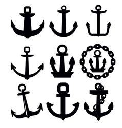 Anchor icon set vector