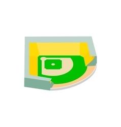 Baseball stadium isometric 3d icon vector