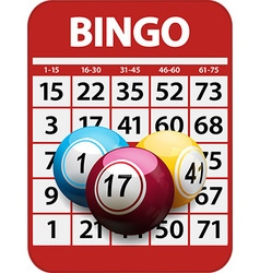 Bingo card and balls background vector image vector image