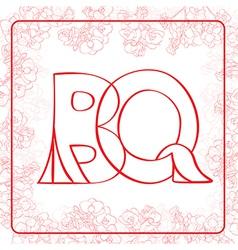 Bq monogram vector