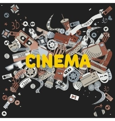 Cinema line art design vector image vector image