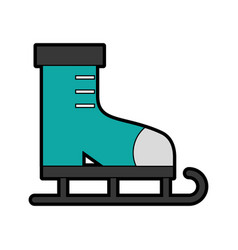 cute ice skate cartoon vector image