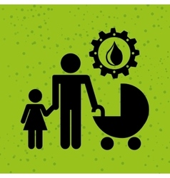 ecological family design vector image