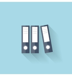 Flat web icon Documents paper folder vector image