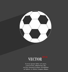 Football symbol Flat modern web design with long vector image vector image