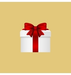 Gift in a box with red bow vector