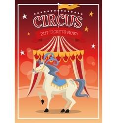 Horse cartoon of circus vector