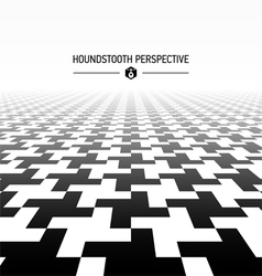 Houndstooth pattern perspective vector image vector image