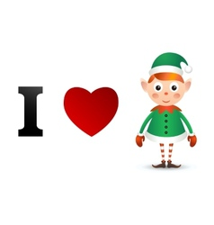 I love Christmas card vector image vector image