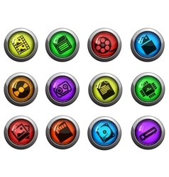 Information carriers icons set vector