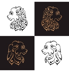 Lion head tattoo or logo vector