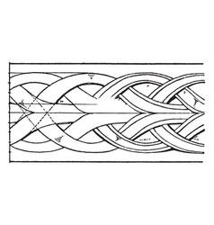 Medieval enrichment torus moulding band vintage vector