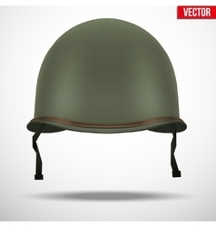 Military US helmet M1 WWII vector image vector image
