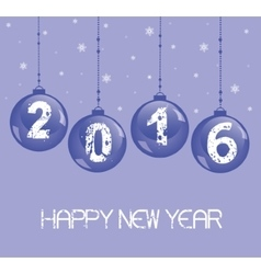 New year decoration with glass balls vector
