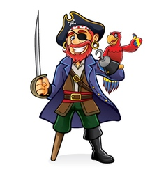 Pirate and Parrot vector image