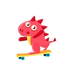 Red Dragon Skatebording vector image