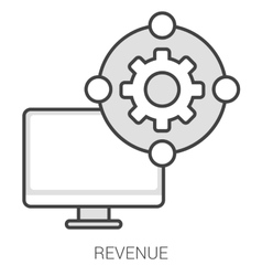 Revenue line infographic vector
