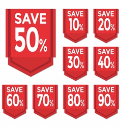 Save percent sticker price tag vector image