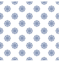 Seamless pattern with compass rose line style vector