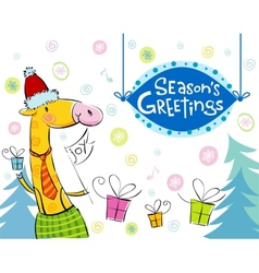 Seasonal greetings vector