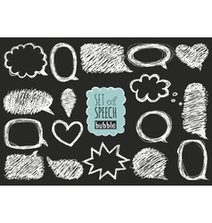 Set of hand drawn speech and thought bubbles vector image vector image