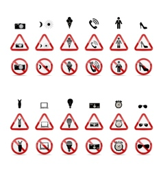 Set of Prohibition Signs vector image
