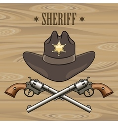 Sheriff Emblem vector image vector image